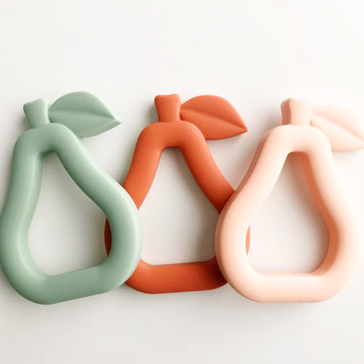 silicone teether | pear.