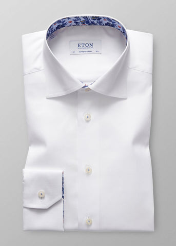 CONTEMPORARY FIT DETAILED TWILL SHIRT