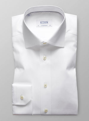 CONTEMPORARY FIT SHIRT WITH EMBROIDERED DETAIL