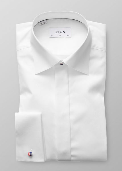 SLIM FIT FLY FRONT FORMAL SHIRT