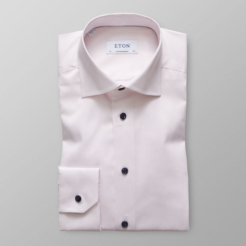 PINK TWILL CONTEMPORARY SHIRT