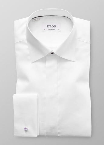 CONTEMPORARY FIT DOBBY FORMAL SHIRT