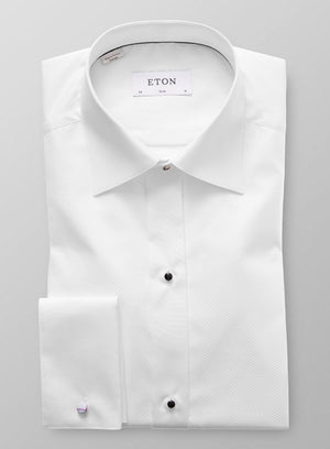 SLIM FIT PIQUE' FORMAL SHIRT
