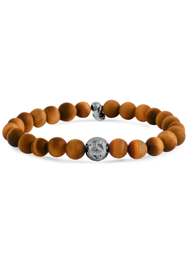 MATTE TIGER'S EYE ASTEROID BRACELET