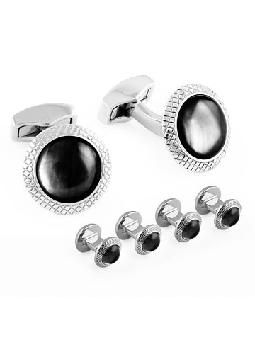 BLACK RHODIUM STUD SET