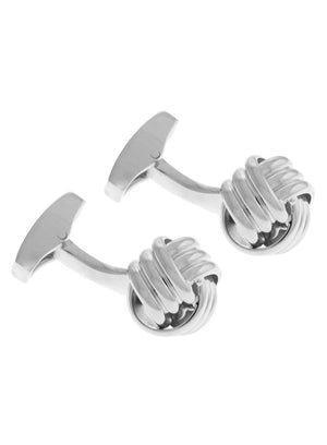 CLASSIC CABLE KNOT CUFFLINKS