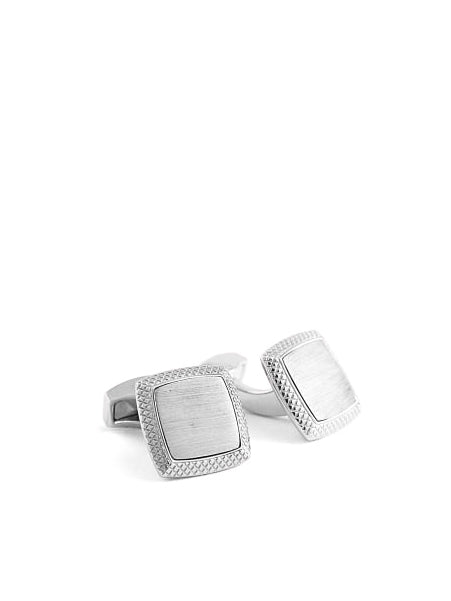 RUTHENIUM SATIN CUFFLINKS