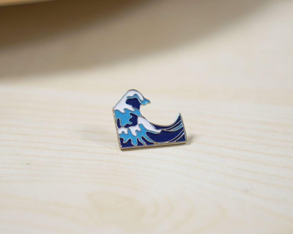 Hokusai Great Wave Enamel Pin - Artsyez Unique Art Gifts