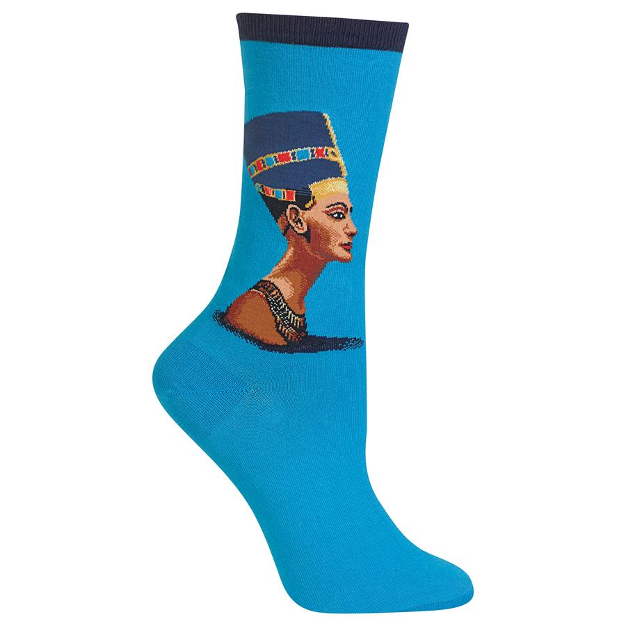 NEFERTITI CREW SOCKS - Artsyez Unique Art Gifts