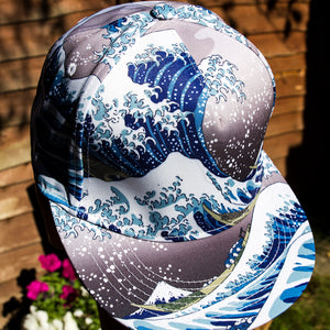GREAT WAVE CAP HOKUSAI - Artsyez Unique Art Gifts