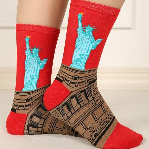 STATUE OF LIBERTY CREW SOCKS - Artsyez Unique Art Gifts