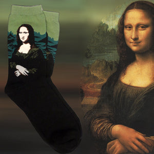 DA VINCI'S MONA LISA CREW SOCKS - Artsyez Unique Art Gifts