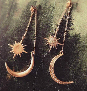 Starry Moon Night Earrings