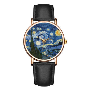 VAN GOGH STARRY NIGHT ART WATCH