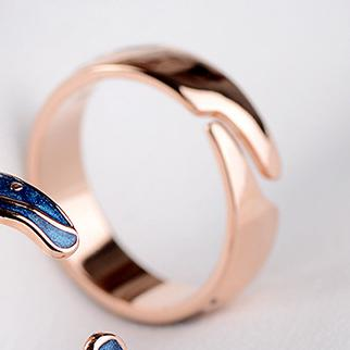 Van Gogh's Starry Night Rose Gold Ring - Artsyez Unique Art Gifts