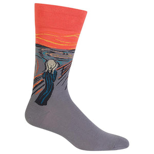 MUNCH'S THE SCREAM CREW SOCKS - Artsyez Unique Art Gifts