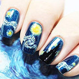 Adhesive Nails Wraps - Starry Night - Artsyez Unique Art Gifts