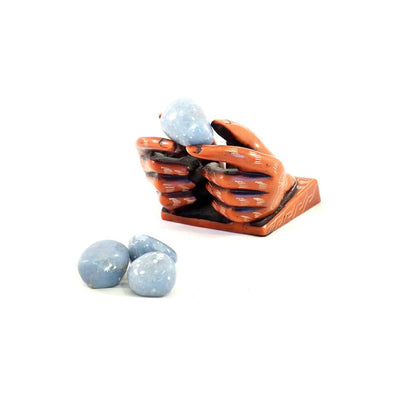 Angelite Tumbled Stone - illuminations Wellbeing Shop