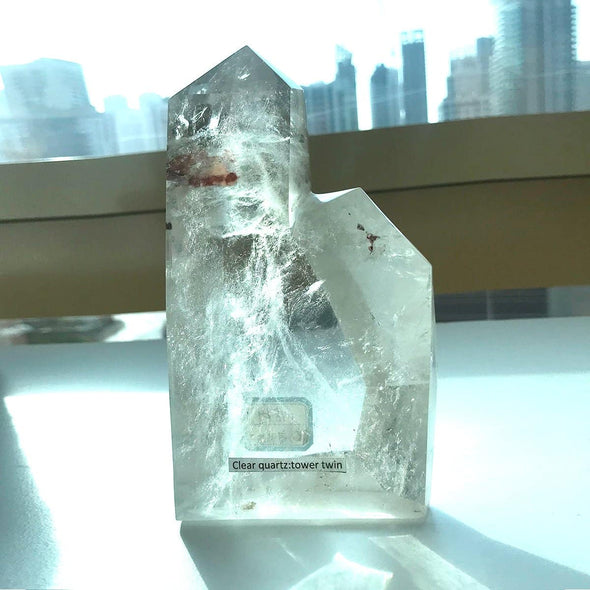Clear Quartz Twin Tower - illuminations Wellbeing Shop