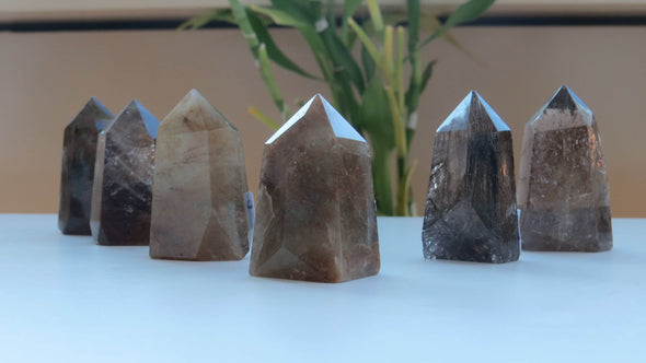 Golden Rutilated Quartz Points (small) - illuminations Wellbeing Shop