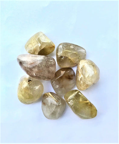 Golden Rutilated Quartz  Tumbled stone