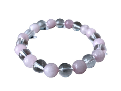 Clear Quartz with Rose Quartz  Bracelet