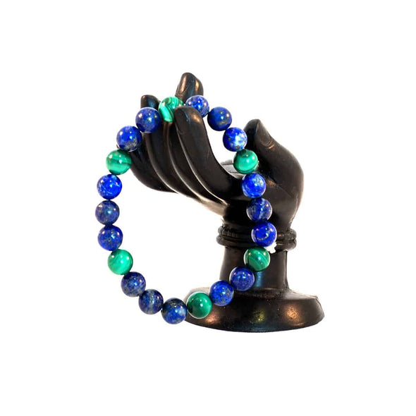Lapiz and Malachite Bracelet - illuminations Wellbeing Shop