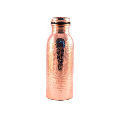 Copper Bottle Rumi - illuminations Wellbeing Shop