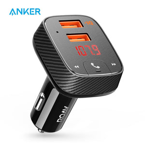 Roav SmartCharge F2 FM Transmitter - Anker | Bluetooth Receiver | Find Car | Bluetooth Music | USB Support | Car Charger | App Support | Bluetooth 4.2 - Mukhtar Networking