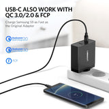 Ugreen 57W Fast Charger | 45W USB-C PD | 12W USB-A Quick Charge 3.0 | USB-C to Lightning Cable 1m | USB-C to USB-C Cable 1m | MacBook, MateBook, Dell XPS - Mukhtar Networking