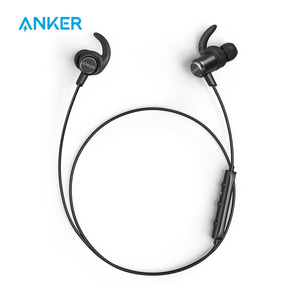 Anker SoundBuds Slim+ Wireless Earphone | Bluetooth 5.0 | 7-Hour Playtime | IPX5 Water-Resistant - Mukhtar Networking