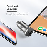 Ugreen 18W Car Charger | USB C Power Delivery 3.0 | USB-A Quick Charge 3.0 | USB-C to Lightning Cable 1m | USB-C to USB-C Cable 1m - Mukhtar Networking