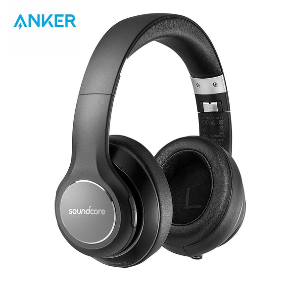 Anker SoundCore by Vortex Wireless Over-Ear Headphones | 20-Hour Playtime | Bluetooth 4.1 | Memory Foam | Stereo Sound - Mukhtar Networking
