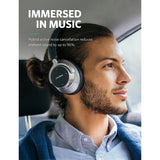 Anker SoundCore Space NC | Wireless Noise Cancelling Headphones with Touch Control | 20-Hour Playtime | Foldable Design | Memory Foam | Over the Ear | 50-Hour Wired Playtime - Mukhtar Networking