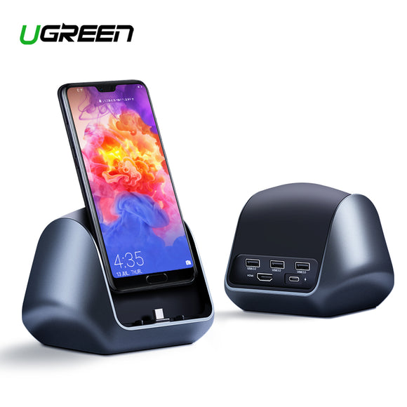 Ugreen Huawei Special USB-C Dock Station | 3-Port USB 3.0, HDMI, RJ45 | USB Quick Charge 3.0 Free | Supports 4K/30Hz - Mukhtar Networking