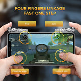 Ugreen Mobile Gamepad Game Controller | Trigger Aim Button | L1 R1 Shooter Joystick | iPhones, Android Devices - Mukhtar Networking