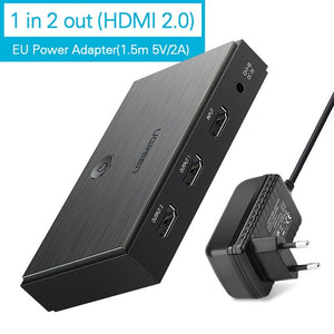 Ugreen HDMI 2.0 Splitter | UHD 4K/60Hz HDR HDMI Adapter | 1-input-4-output HDMI | 1-input-2-output HDMI | Multiple Screen Support | Upto 30m Signal Transmission | Supports 3D | Supports Stereo Audio - Mukhtar Networking