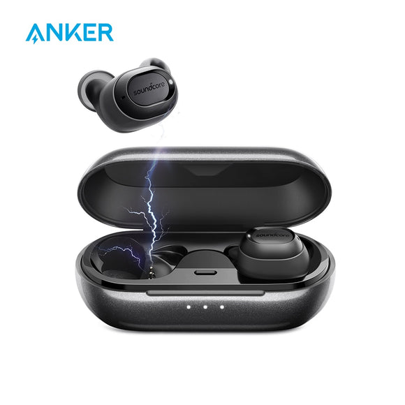 Anker SoundCore Liberty Lite Truly Wireless Earbuds | Bluetooth 5.0 | IPX5 Water-Resistant | Sports Sweatproof | 33ft Skip Free Audio | 3.5 Hours Playtime on a Single Charge | 9 Hours Playback on Case - Mukhtar Networking
