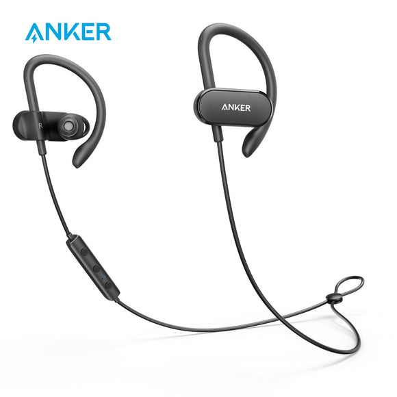 Anker SoundBuds Curve Wireless Earphones | Bluetooth 4.1 | Sports Earphones | 12.5-Hour Playtime | IPX5 Water-Resistant | Headset Carry Pouch - Mukhtar Networking