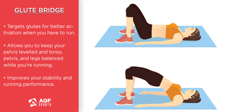 how to do glute bridge in strength training & it's benefits for runners