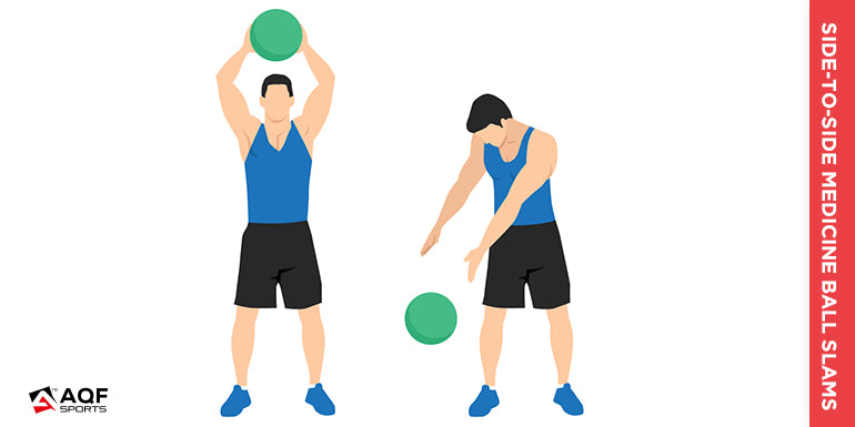 Side-to-Side Medicine Ball Slams