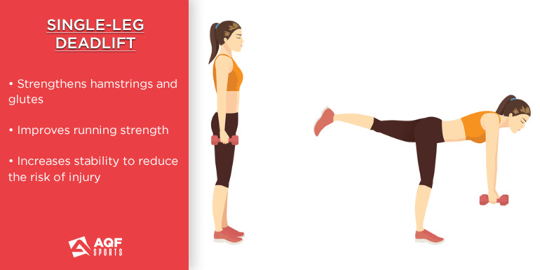 how to do single leg deadlifts in strength training & it's benefits for runners