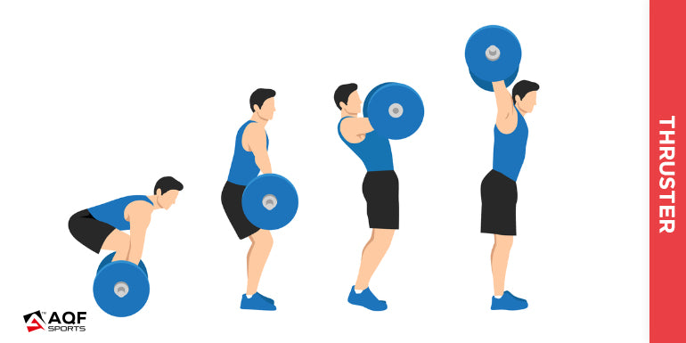 Thruster with barbell illustration