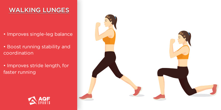 how to do walking lunges in strength training & it's benefits for runners