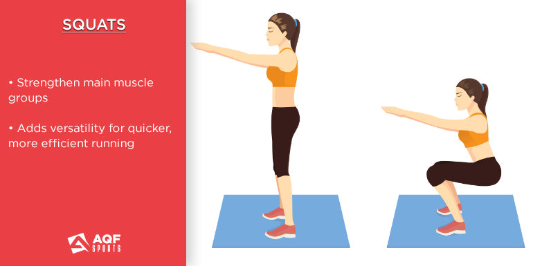 how to do squats in strength training & it's benefits for runners