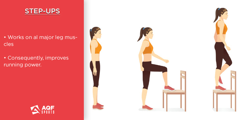 how to do step ups in strength training & it's benefits for runners
