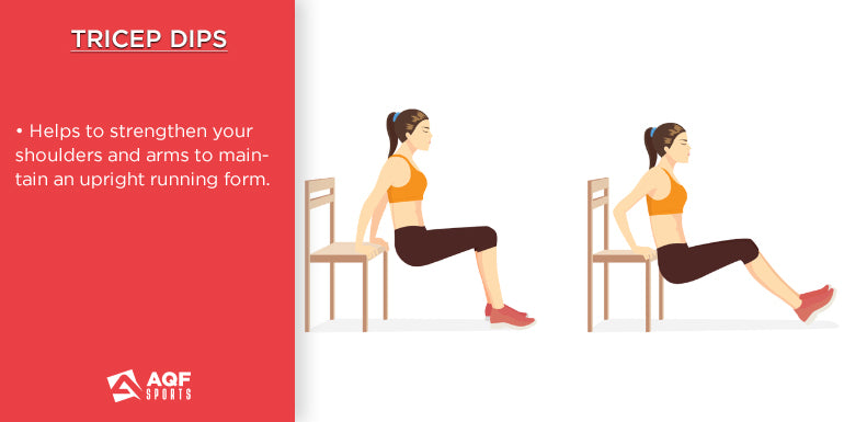 how to do triceps dips in strength training & it's benefits for runners