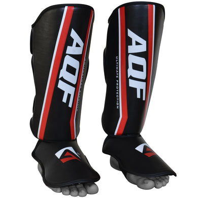 AQF Shin Instep Guards Synthetic Leather