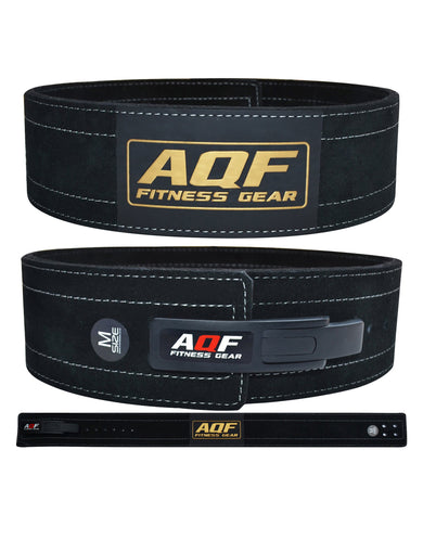 AQF Lever Buckle Leather Powerlifting Belt 10mm