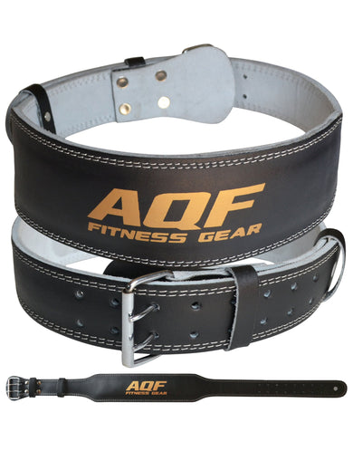 "AQF Weight Lifting 4"" Leather Belt"